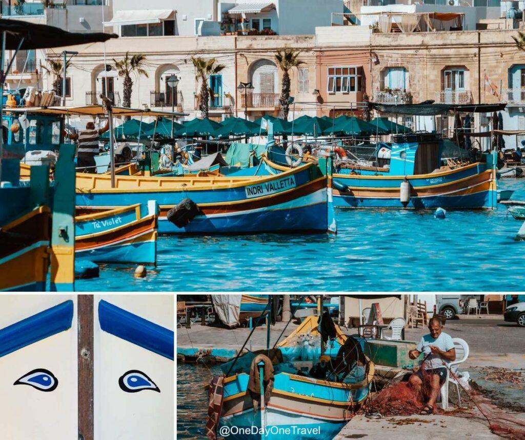 Port multicolore de pêcheurs de Marsaxlokk à Malte - Guide de voyage pour visiter Malte
