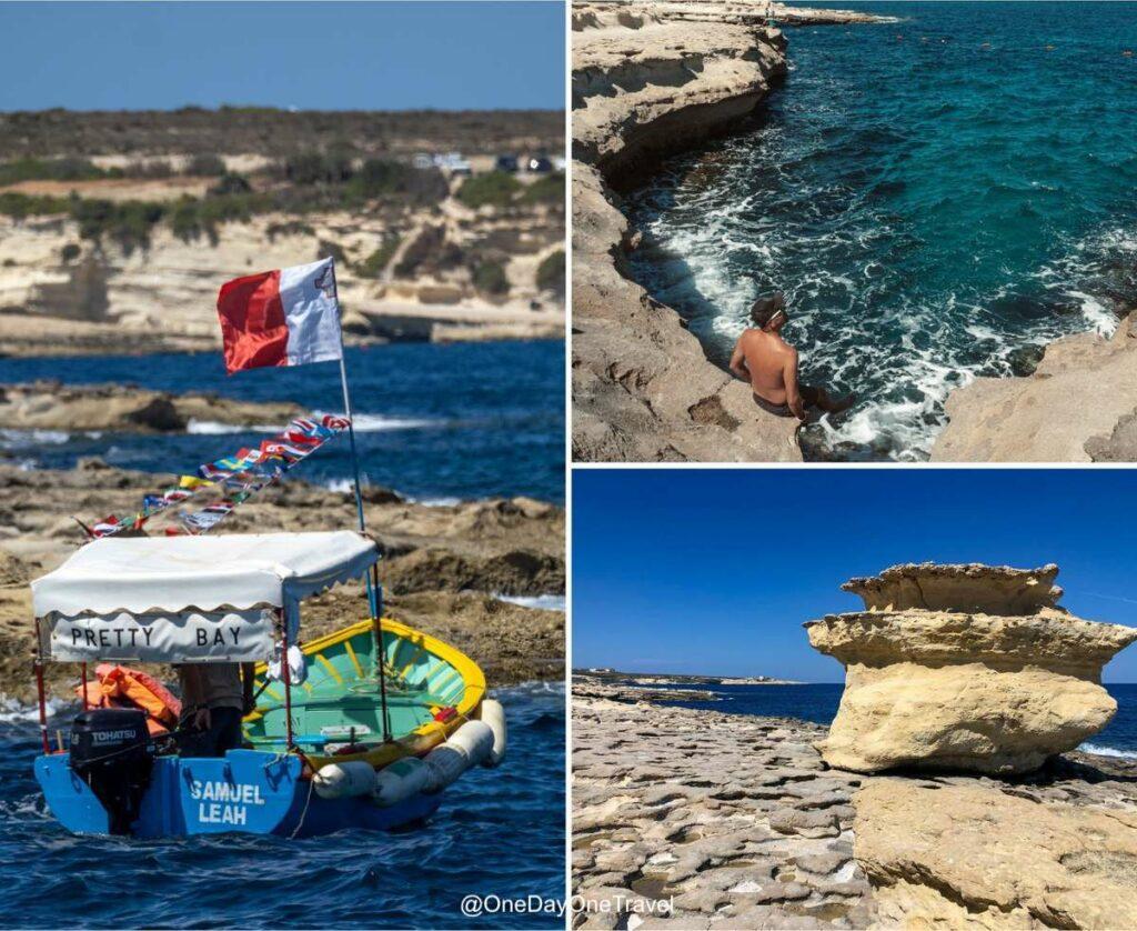 Environs de Saint Peter's pool sur l'île de Malte à 20 minutes de route de La Valette