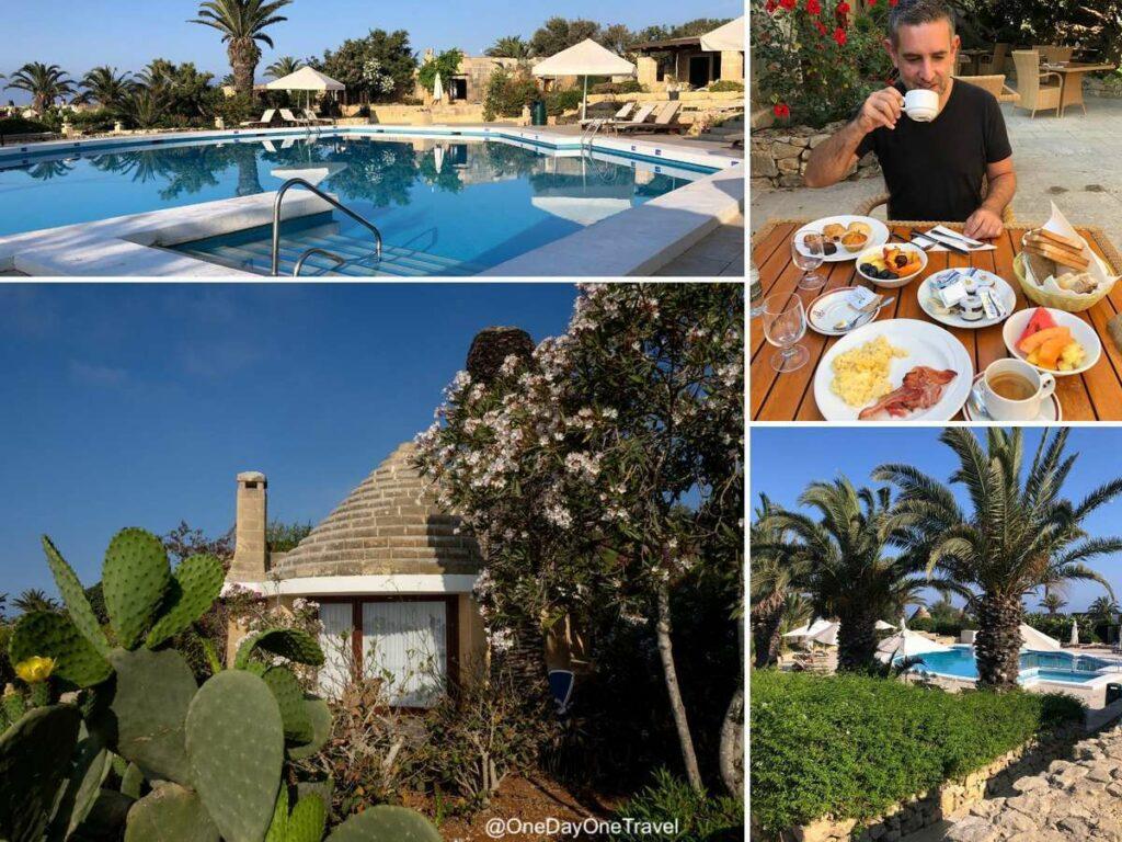 Séjourner à Gozo dans l'hôtel Ta' Ċenċ à Sannat