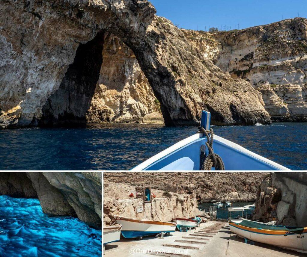 Visiter la grotte bleue de Malte : Wied iz Zurrieq