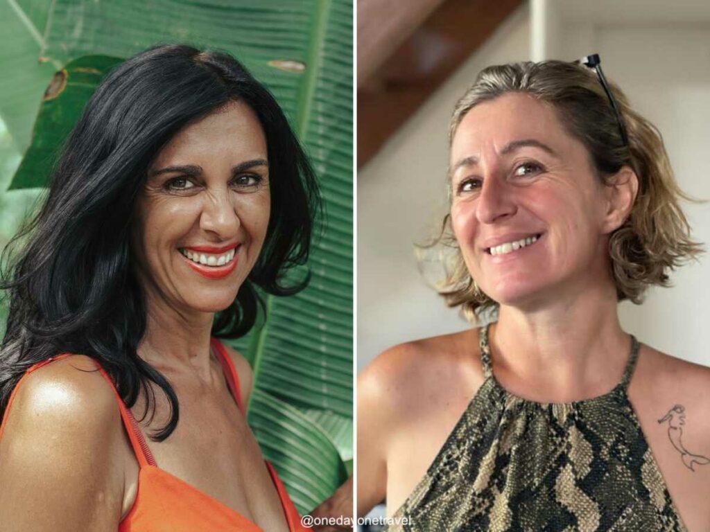 Karine et Manuela de l'agence de voyages locale MimpiGO à Bali en Indonésie. Voyages sur mesure, authentiques et écoresponsables